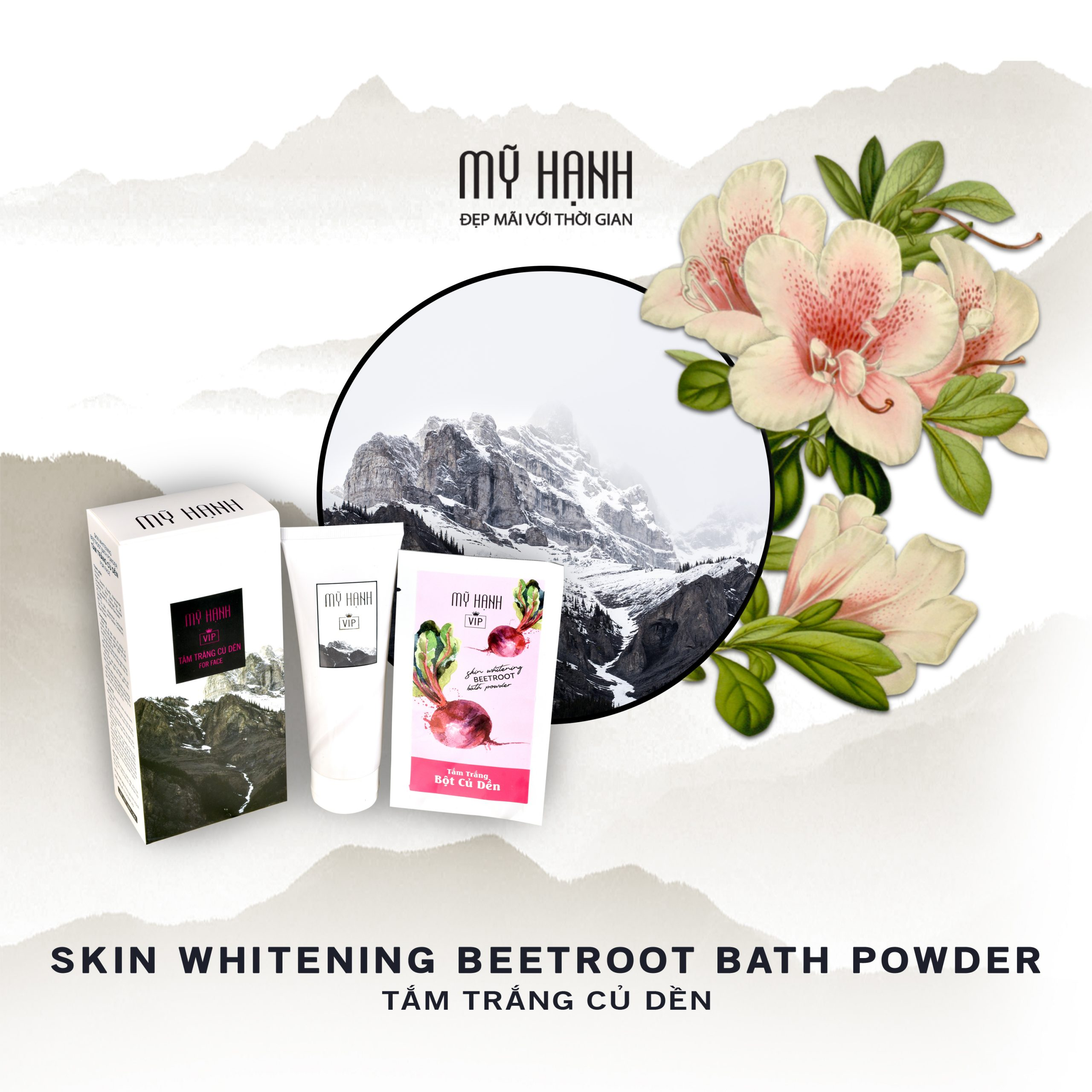 SKIN WHITENING BEETROOT BATH POWDER (BODY)